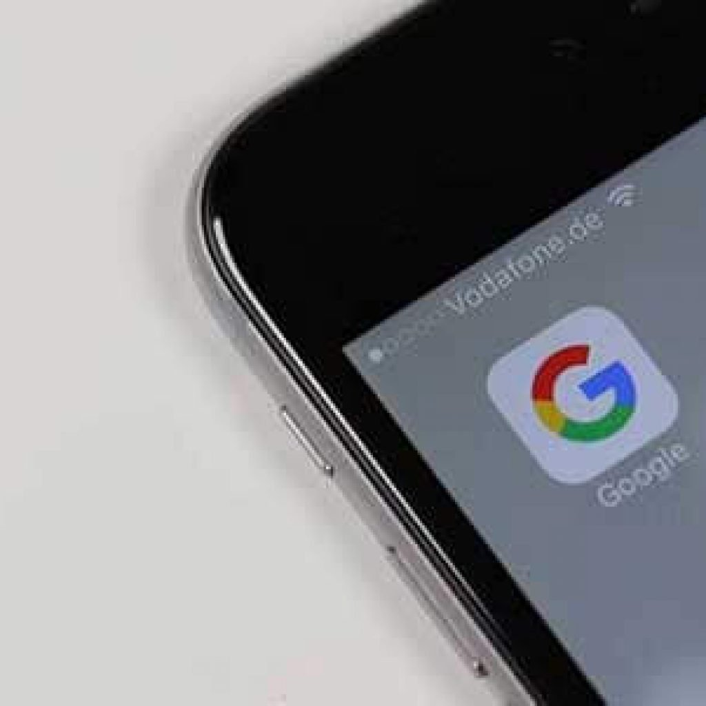 A phone with Google app open and ready to search.